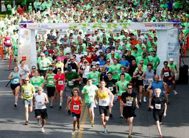 Runners start the Heart and Sole 5K