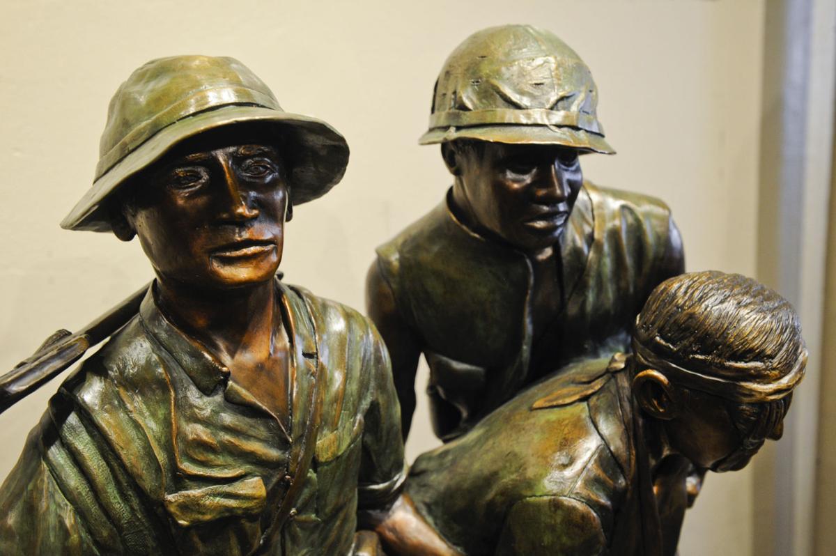 """""""No Soldier Left Behind"""" is a bronze cast sculputre by Helena artist Lyle Schwabauer."""