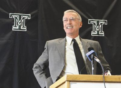 Bob Green speaks during a press conference Tuesday at Montana Tech