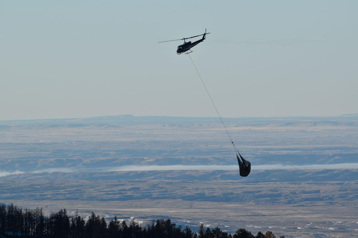 July fire stabilization helicopter