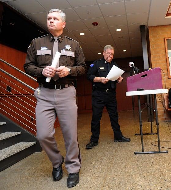 Sidney Police Chief Frank DiFonzo, right, and Sheriff Brad Baisch