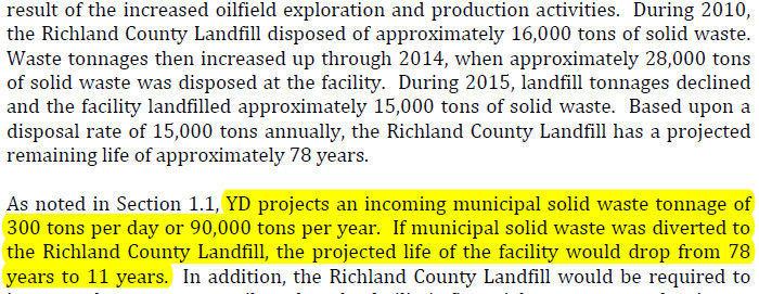 Yellowstone Disposal draft environmental impact statement