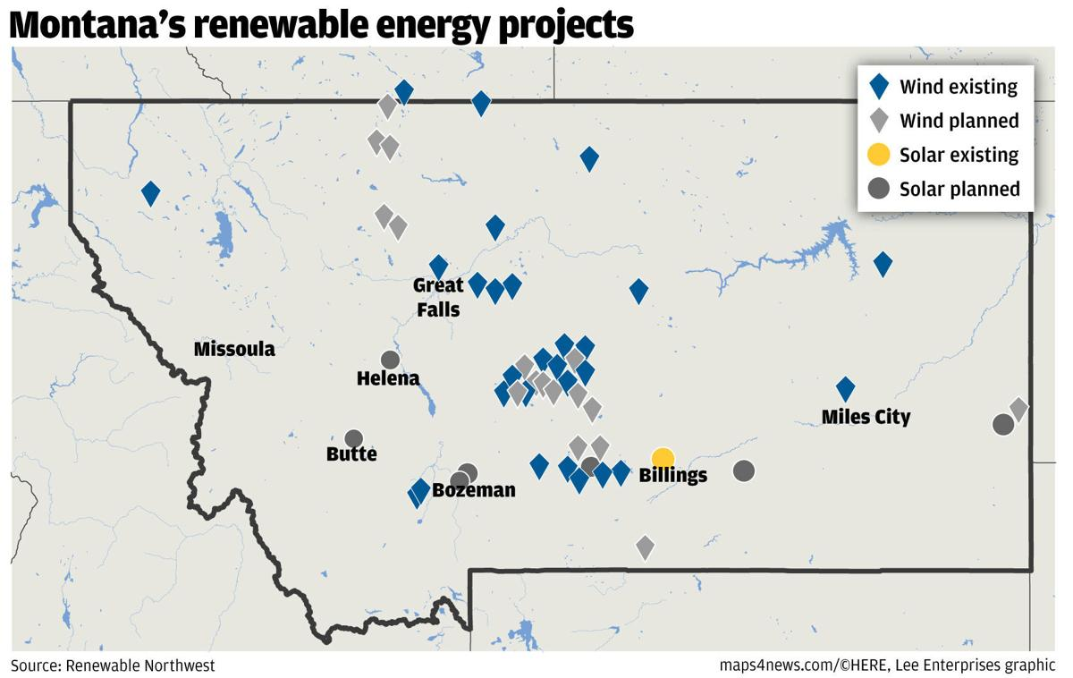 Montana wind and solar