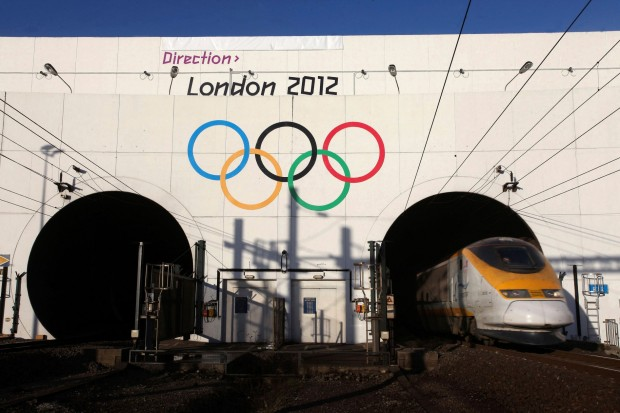 Eurostar train announces Olympics