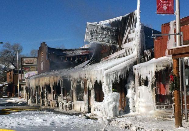 Dubois Will Rebuild Fire Destroys Buildings In Scenic