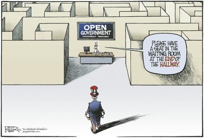 Open government maze