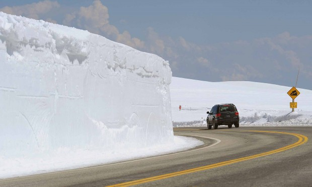 Snow has been removed from the roadway