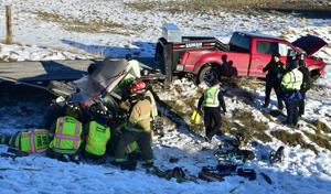 Woman in ICU after three-vehicle wreck on Highway 3