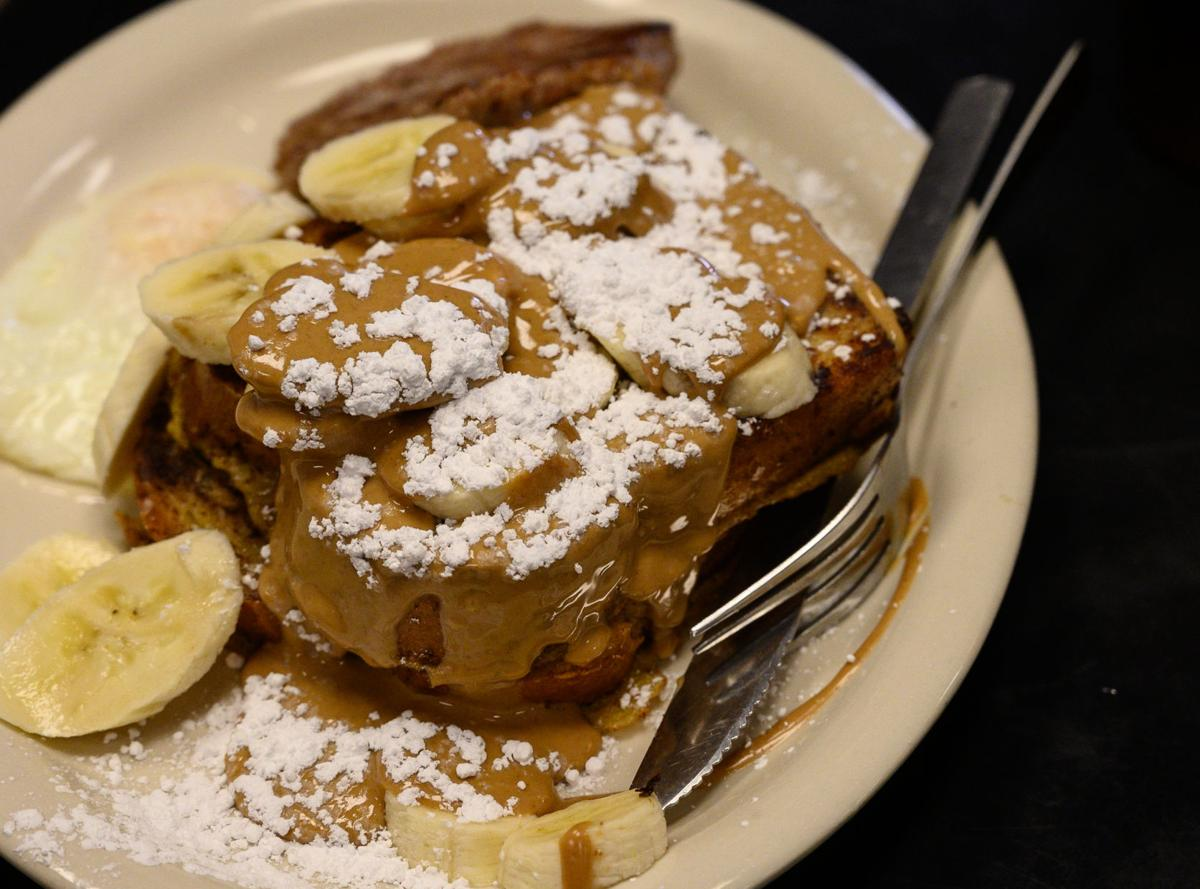 Peanut butter-banana French toast