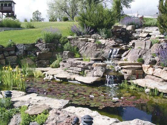 Backyard Pond Fountains ponds, fountains, streams add sense of peace to backyard | home and