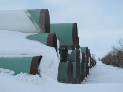 Mothballed pipe in storage for years for Keystone XL Pipeline might