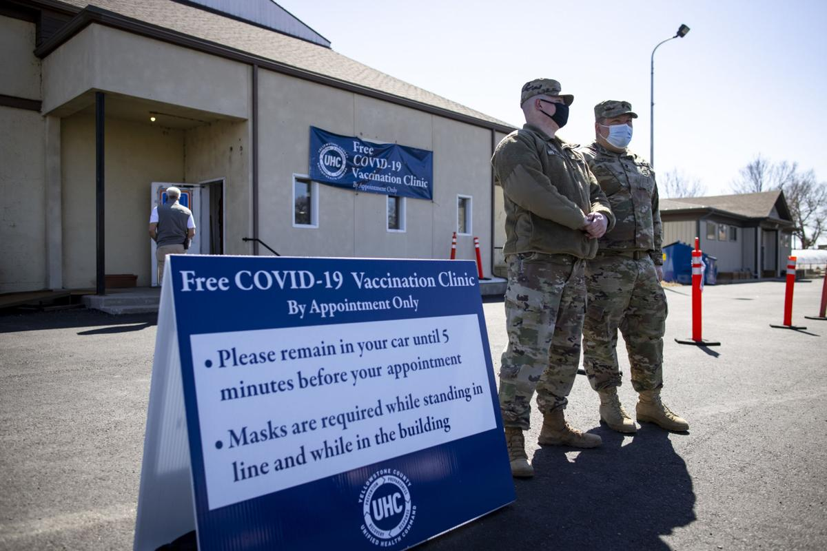 Montana National Guard helps at vaccination clinic