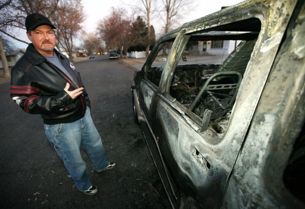 Mark Addington shows the damage