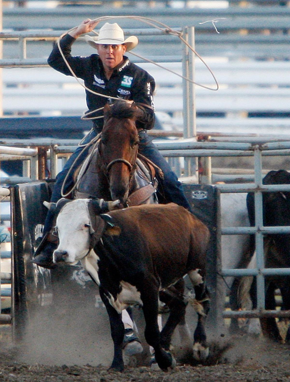 Trevor Brazile competes in the steer roping