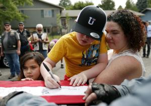 Cross-country motorcade honors Billings gold star family