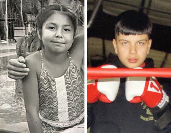 Valencia Gonzalez, 12, and Antonio Gonzalez, 14