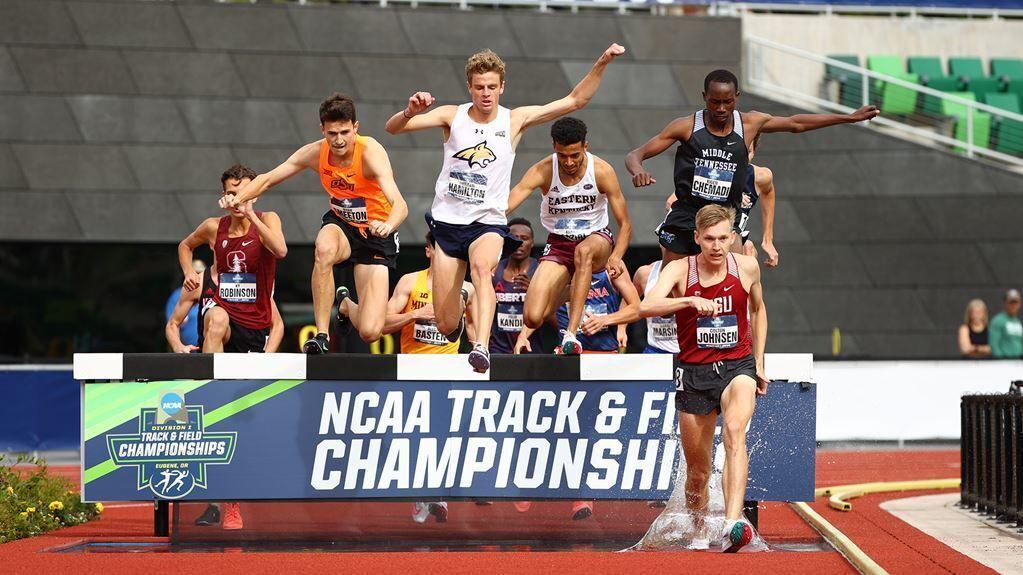 Duncan Hamilton in the NCAA men's steeplechase final
