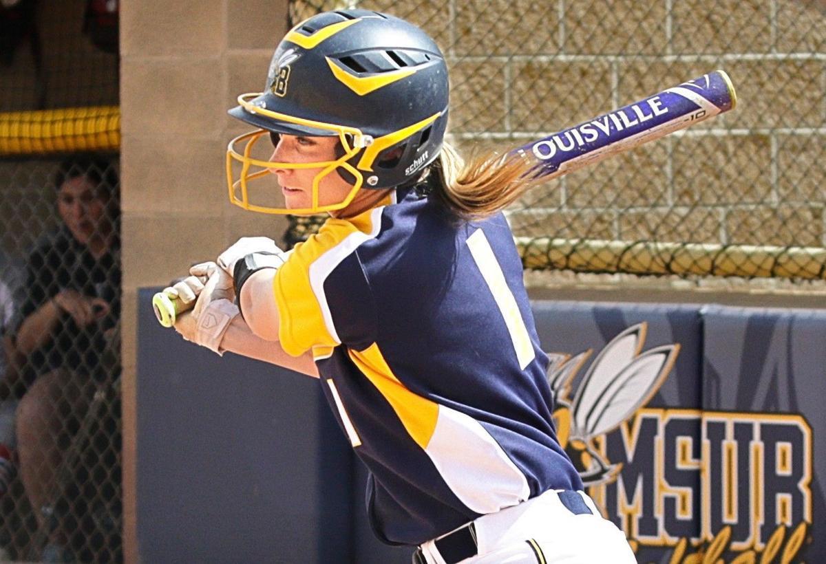 MSUB's Heather Tracy bats