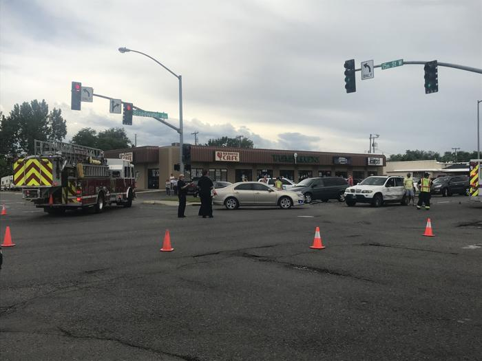Car thief causes four-vehicle crash, runs away, arrested