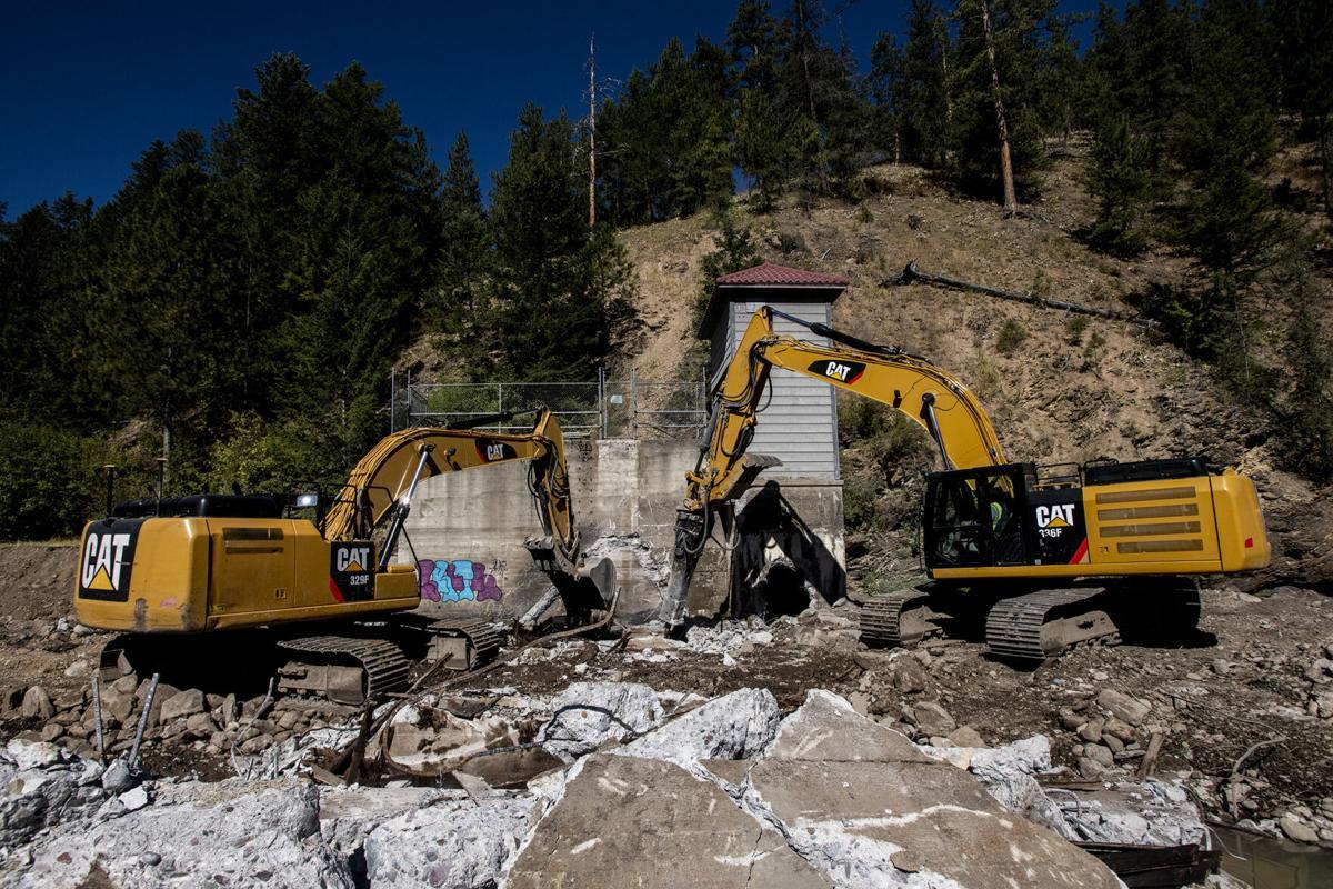Rattlesnake Creek Dam demolition 01