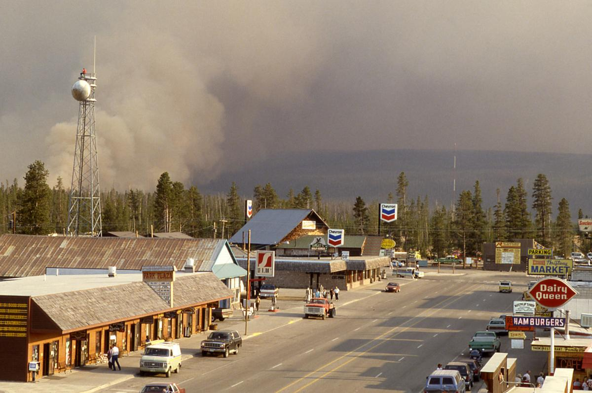 West Yellowstone braces for fire in 1988