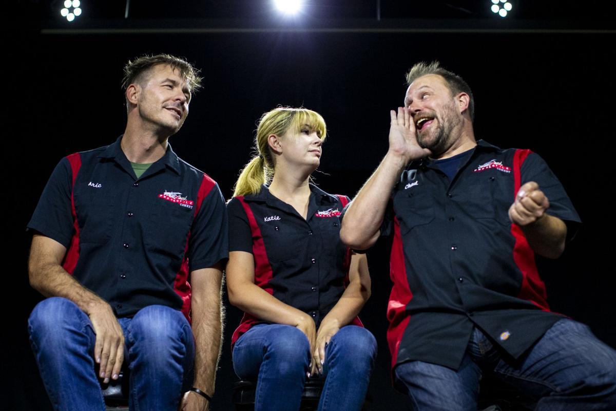 Aric Weber, Katie Wollenburg and Chad Korb