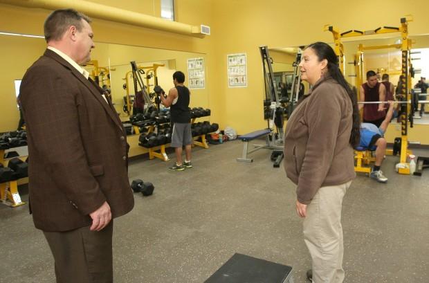Sen. Jon Tester tours a new gym