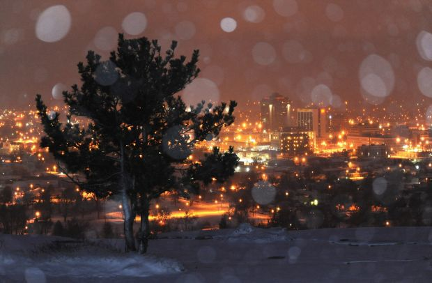 Snow skyline