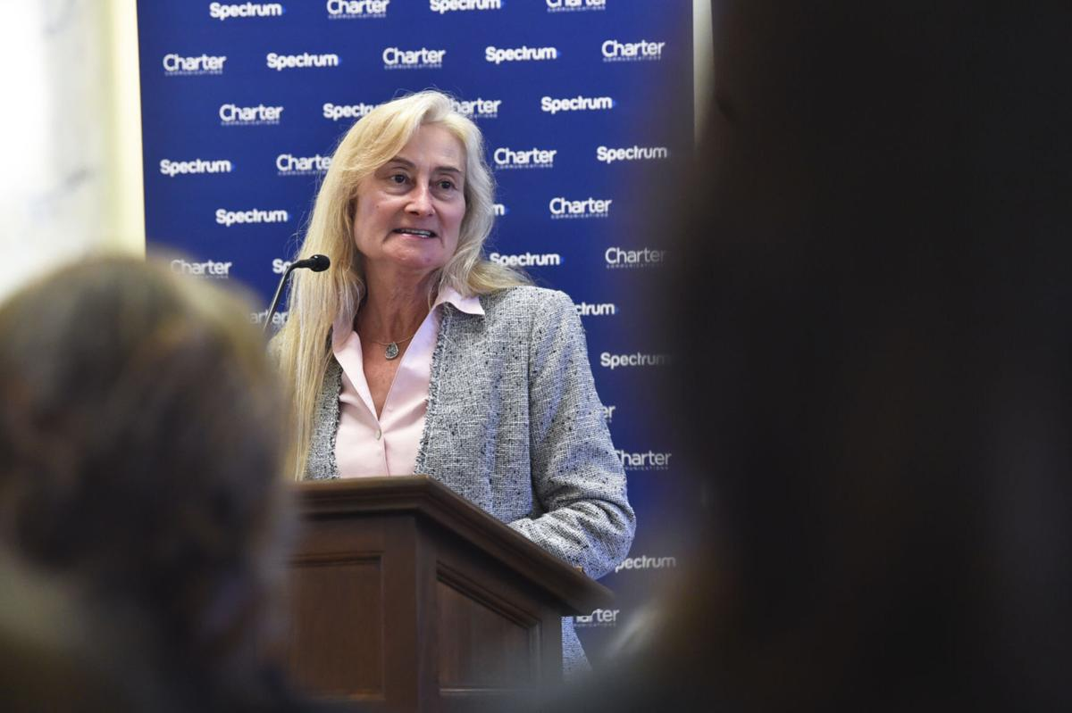 First lady Susan Ginaforte speaks at a Women's History Month celebration Thursday at the State Capitol. (copy)