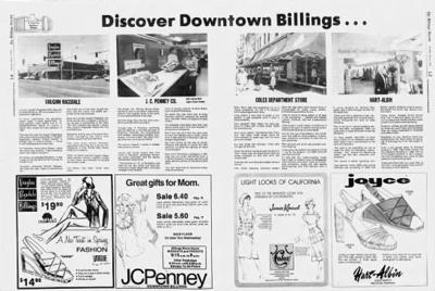 Downtown Billings ad from 1976