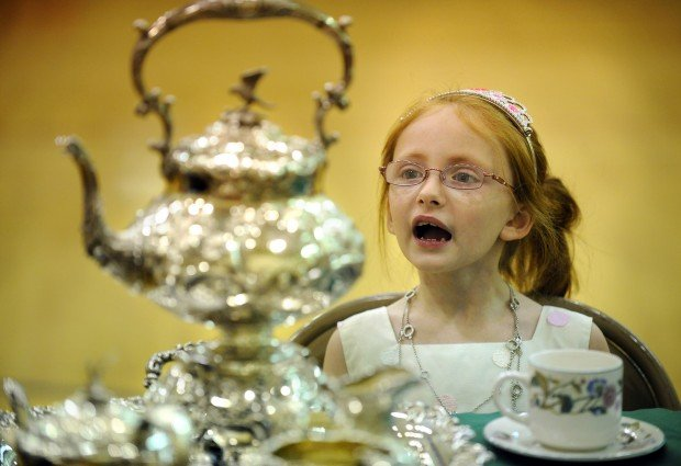 """Children from the Trinity Lutheran School enjoyed a """"High Tea"""""""