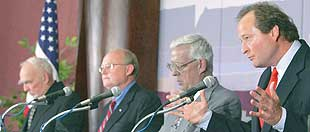 Debate format keeps governor candidates to tight responses