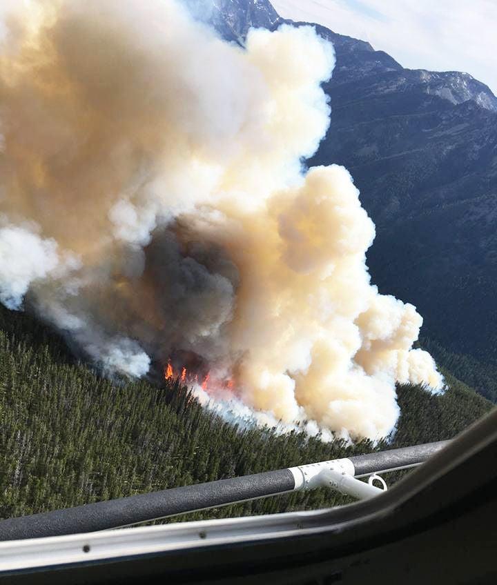 The Lolo Peak Fire crosses into the Fall Creek drainage (copy)