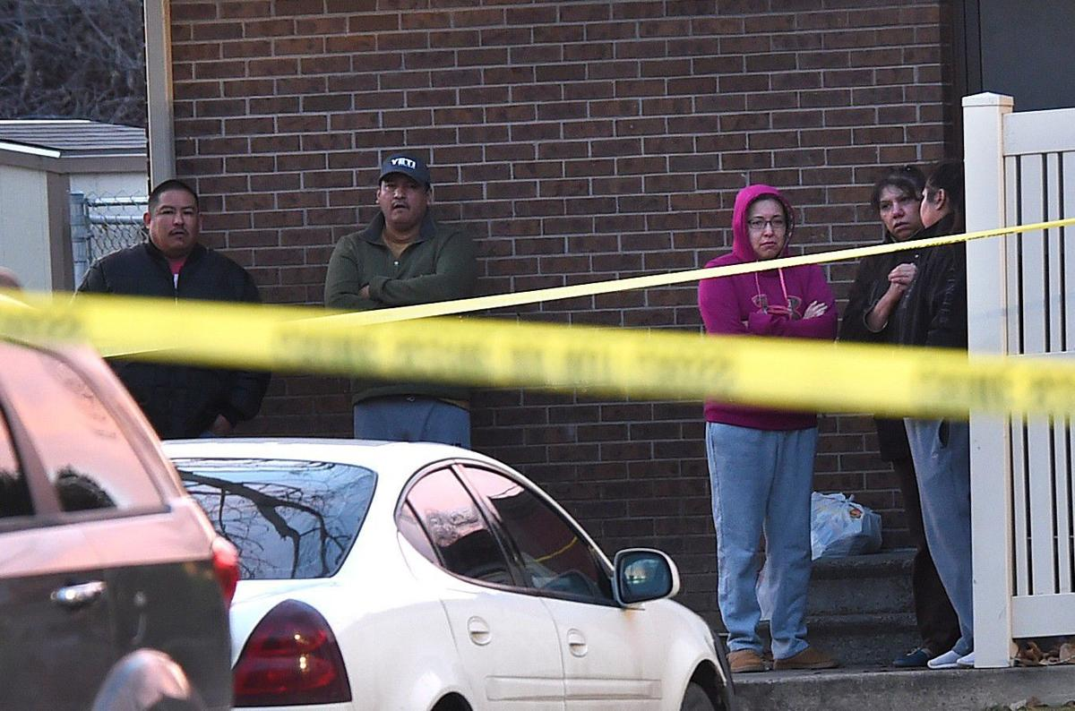 Shooting scene residents