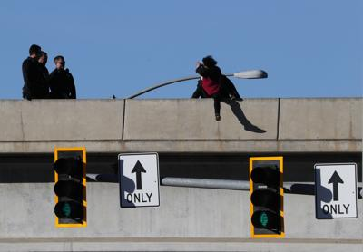 roads reopen after woman talked off i 90 overpass in billings