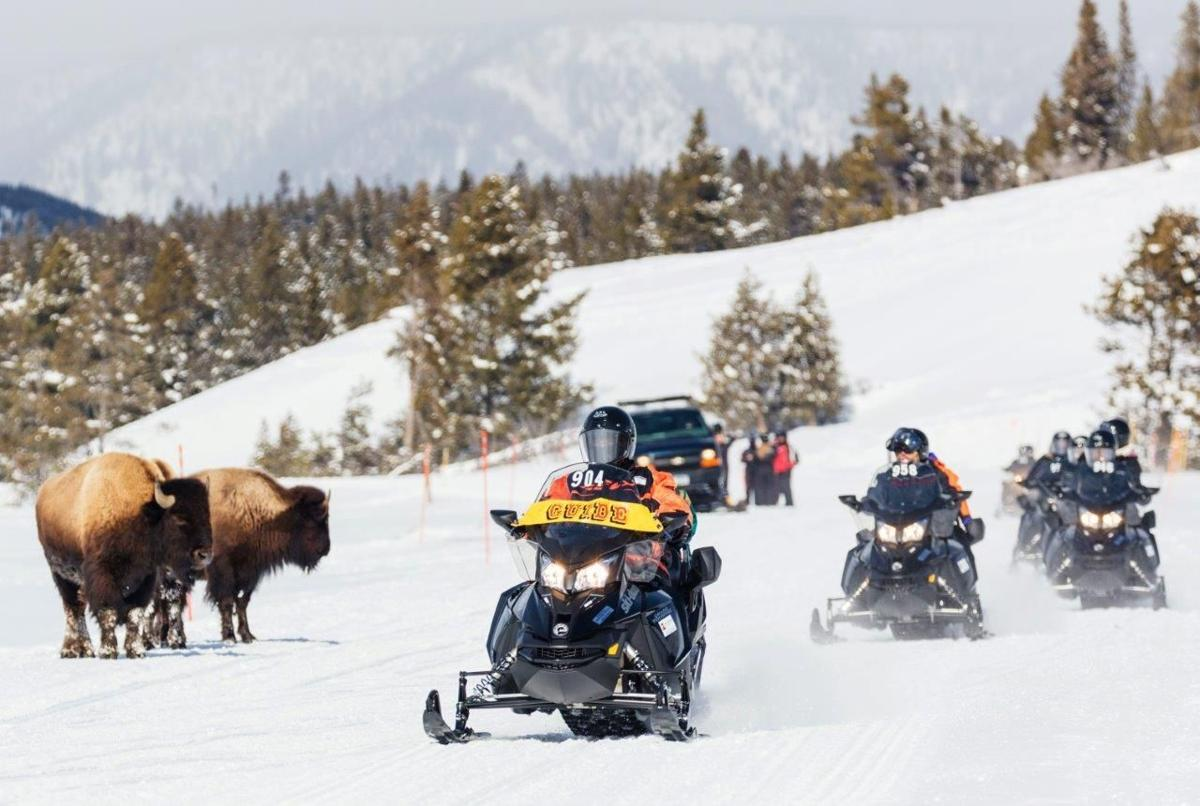 Park snowmobiling