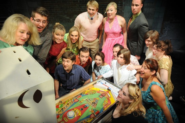 """McCave, cast members of Venture Theatre's """"The Who's Tommy"""""""