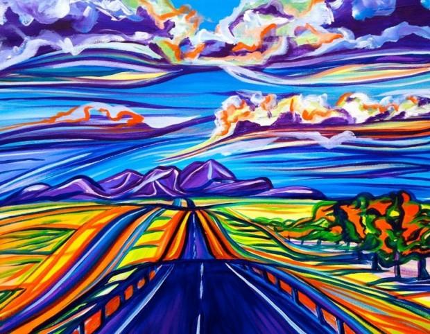 Sarah Morris artwork