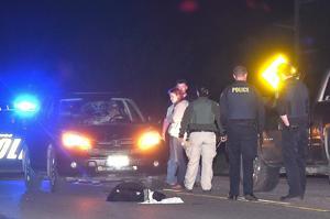 Man injured in early morning vehicle versus pedestrian crash
