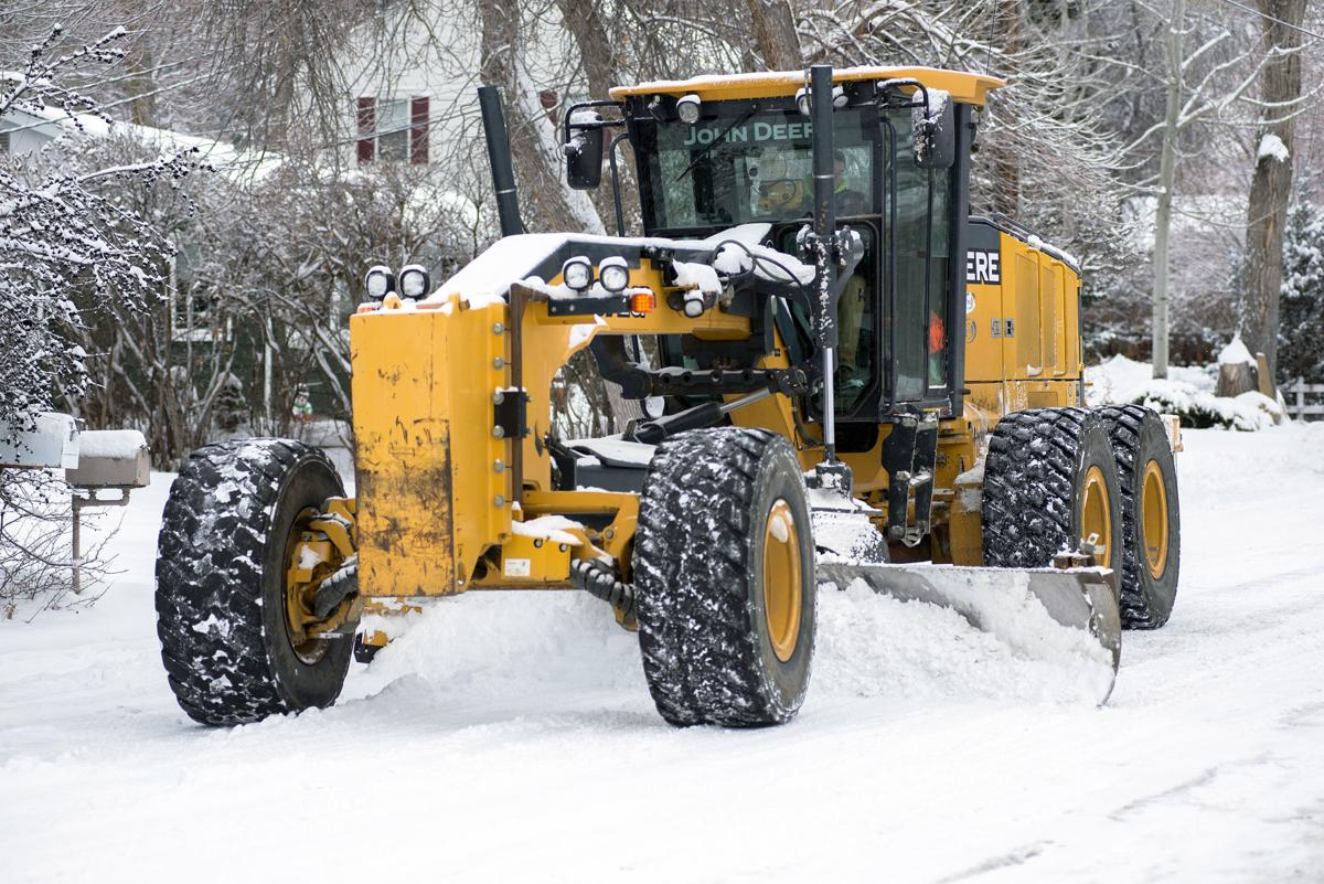 Snow plowing in Billings