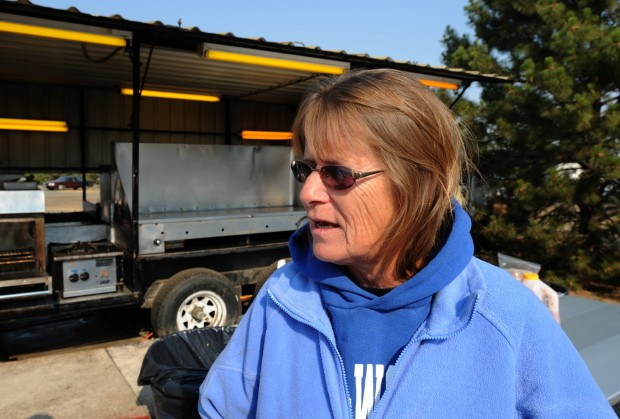 Rita Dvorak operates the Department of Natural Resources fire camp kitchen