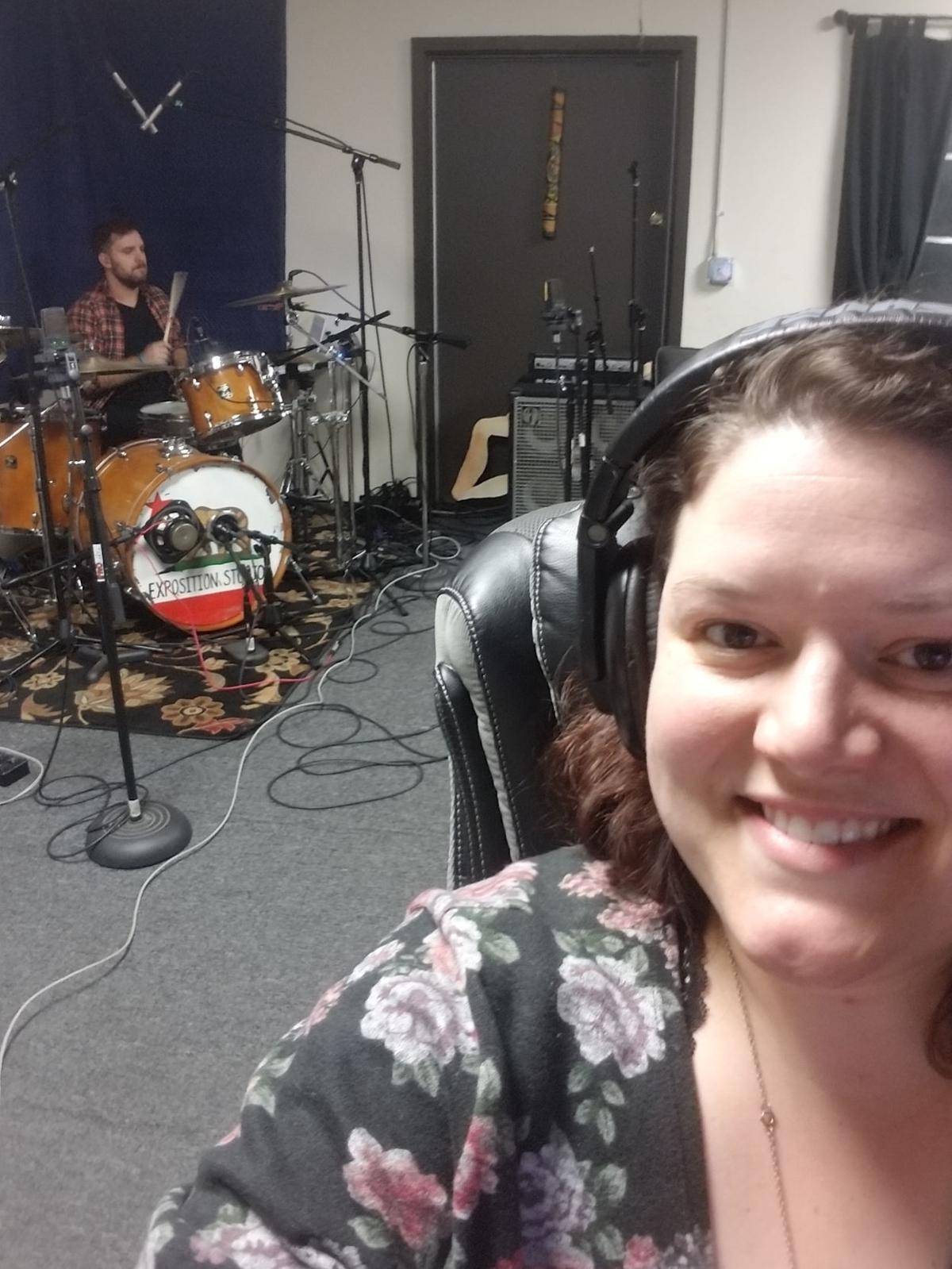 Jessica Lechner in the studio
