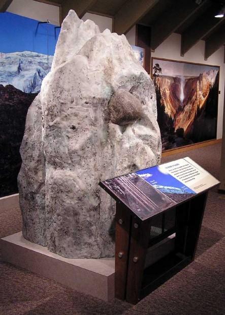 Canyon VEC glacier exhibit