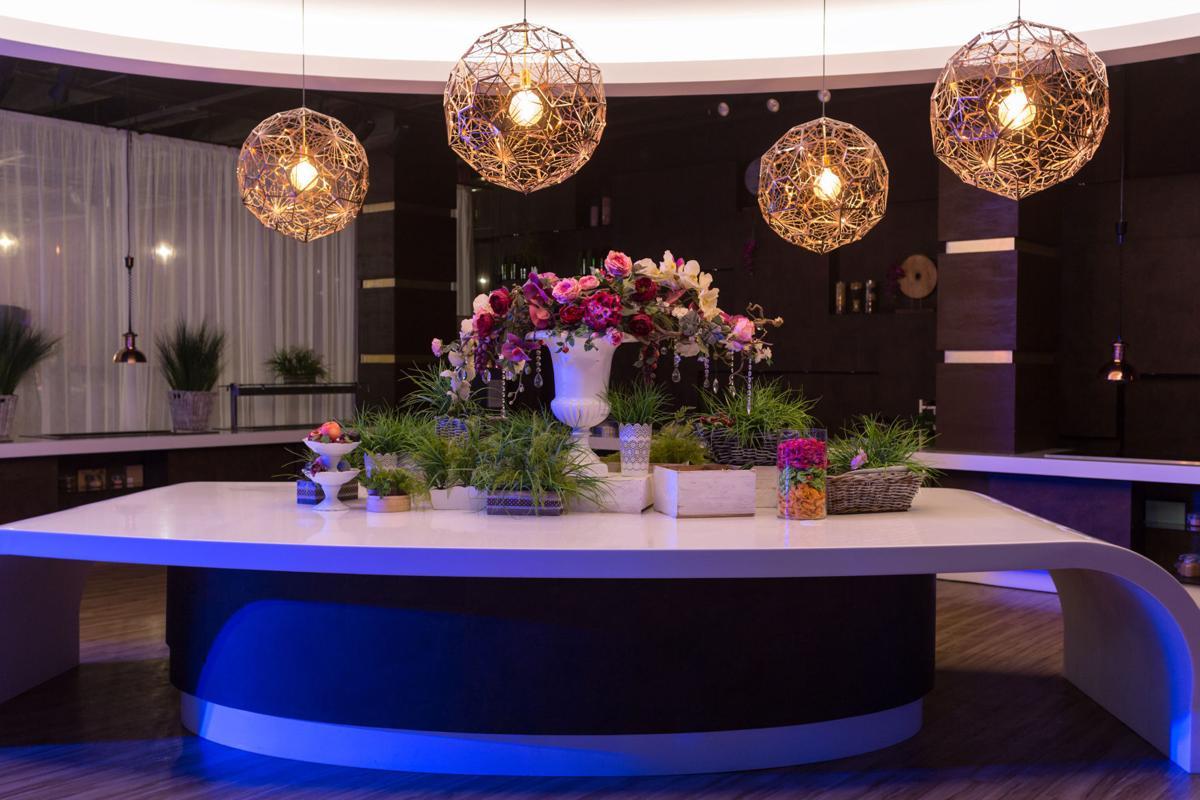 Dandelion-inspired chandeliers