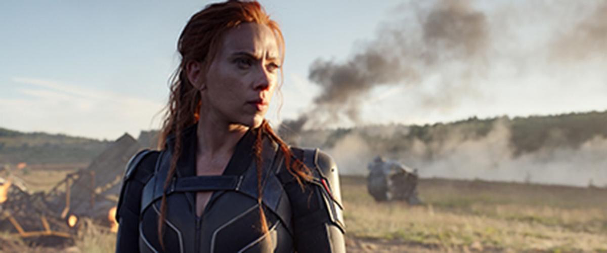 "Scarlett Johansson stars in ""Black Widow,"" a prequel exploring her origins."