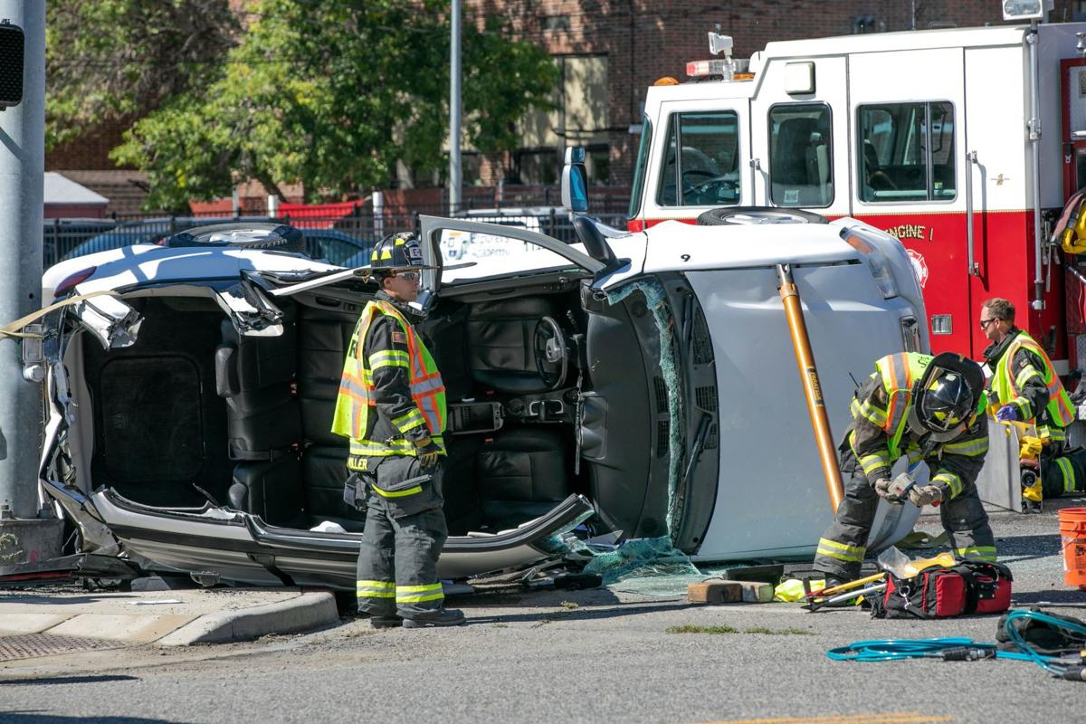 Two vehicles involved in downtown collision