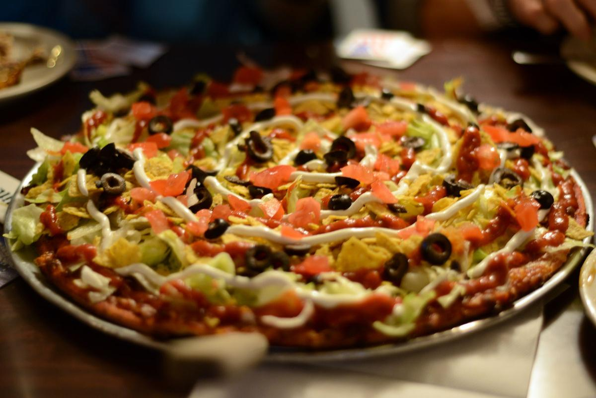 Taco Pizza at Fowl Play Sports Bar & Casino