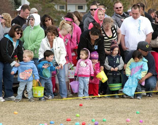 Kids wait for the start