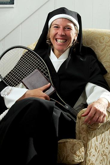 Sister Act II:Former tennis star Andrea Jaeger sports a new kind of habit
