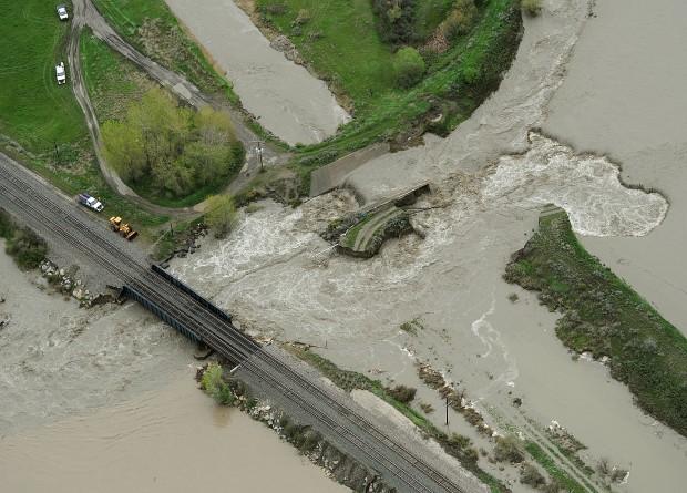Blown levee